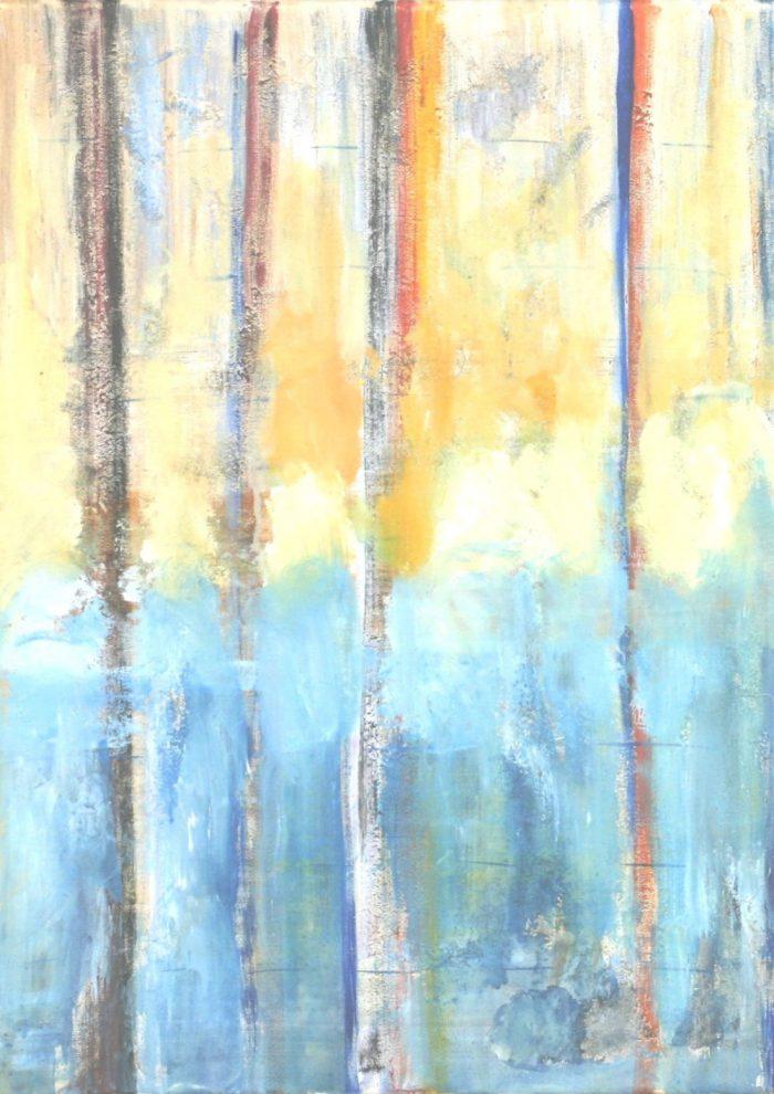 Aufsteigend, 70x50 cm, Acryl auf Leinwand, 2009
