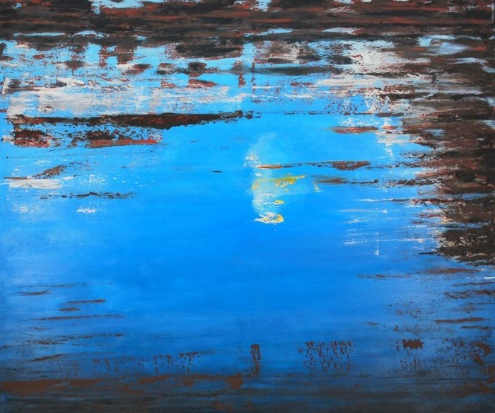 Deep Blue II, 160x190cm, Mischtechnik auf Leinwand, 2009