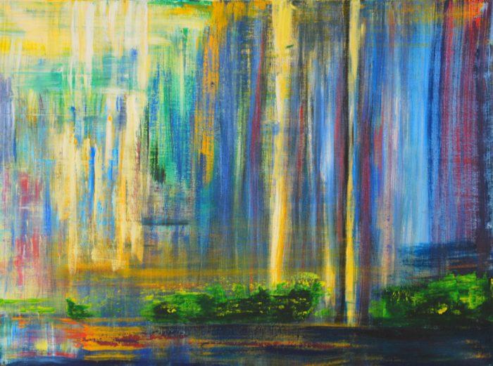 Fallendes Licht, 60x80 cm, Acryl auf Leinwand, 2009