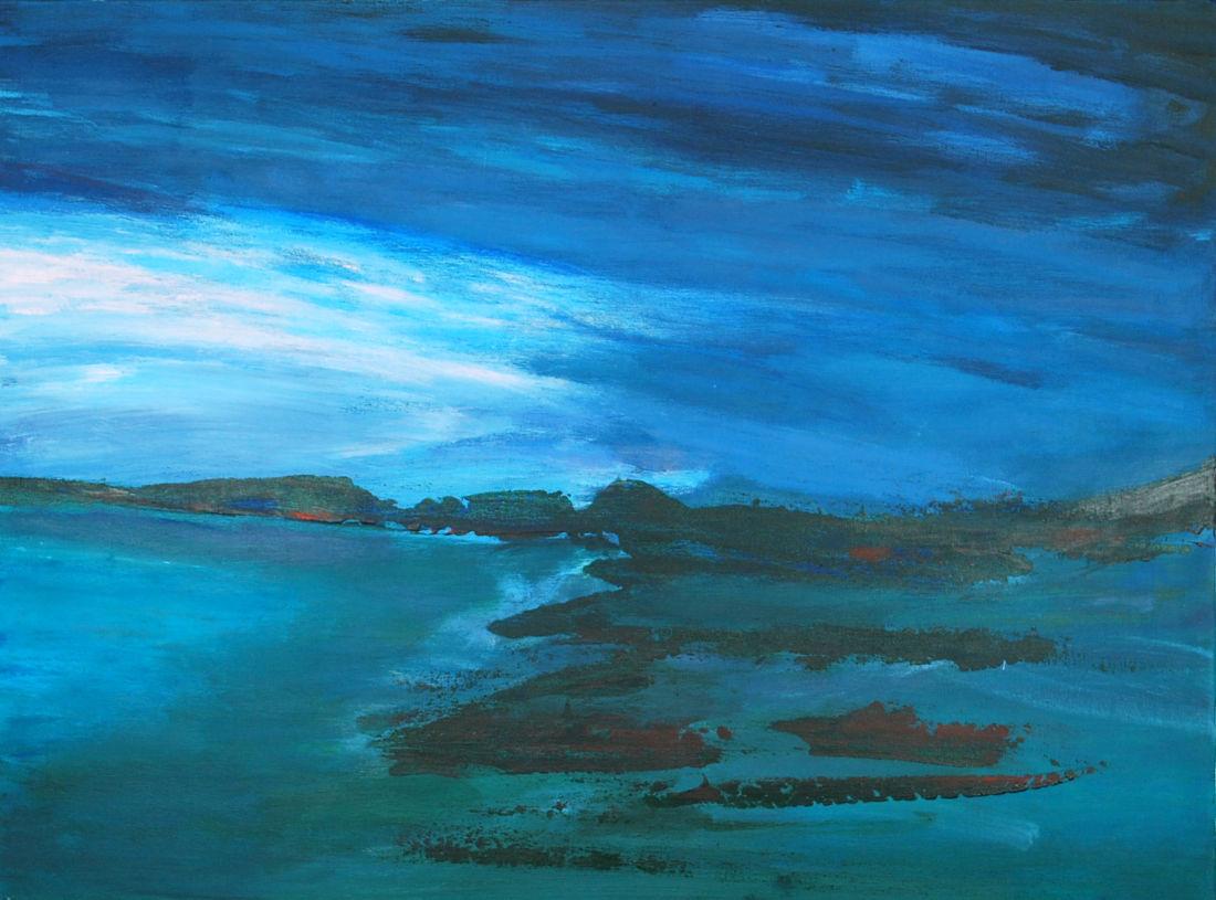 Finnische Küste, 50x70cm, Acryl auf Leinwand, 2014