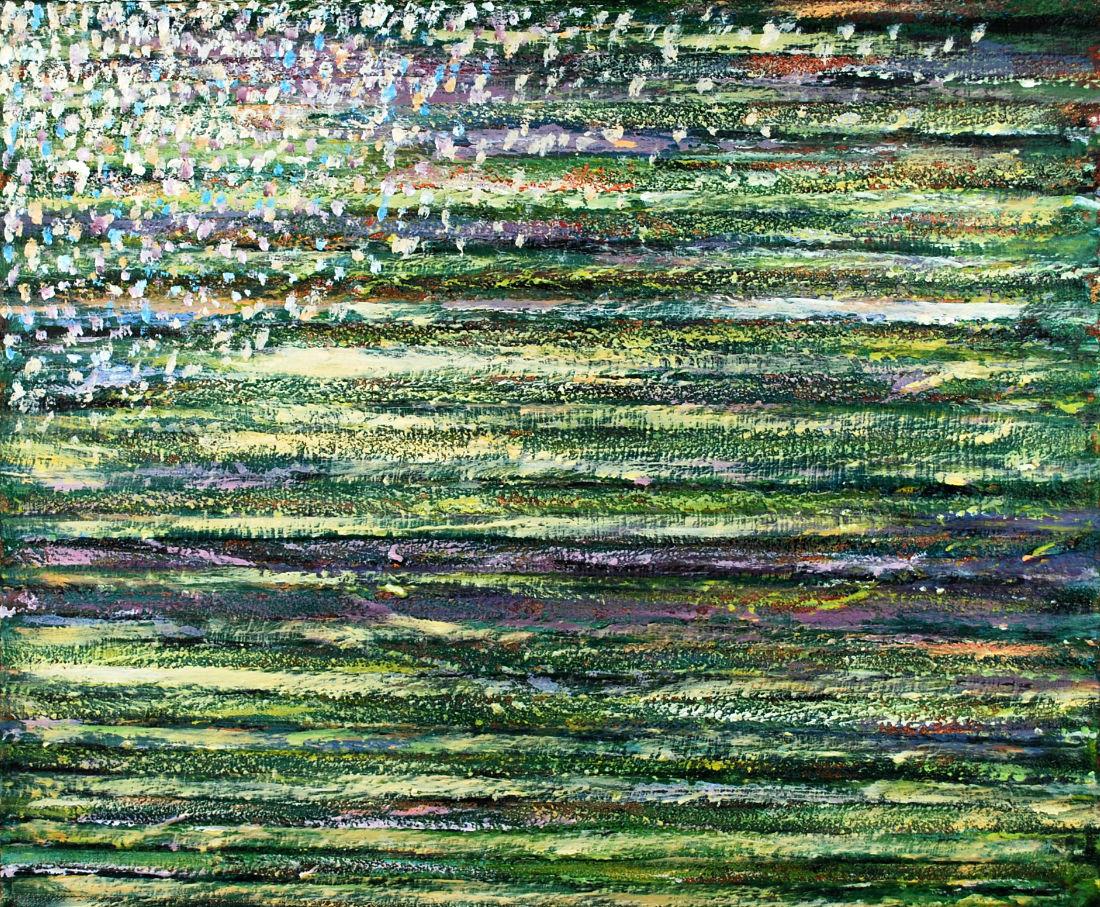 Frühlingswiese, 50x60 cm, Mischtechnik auf Leinwand, 2016