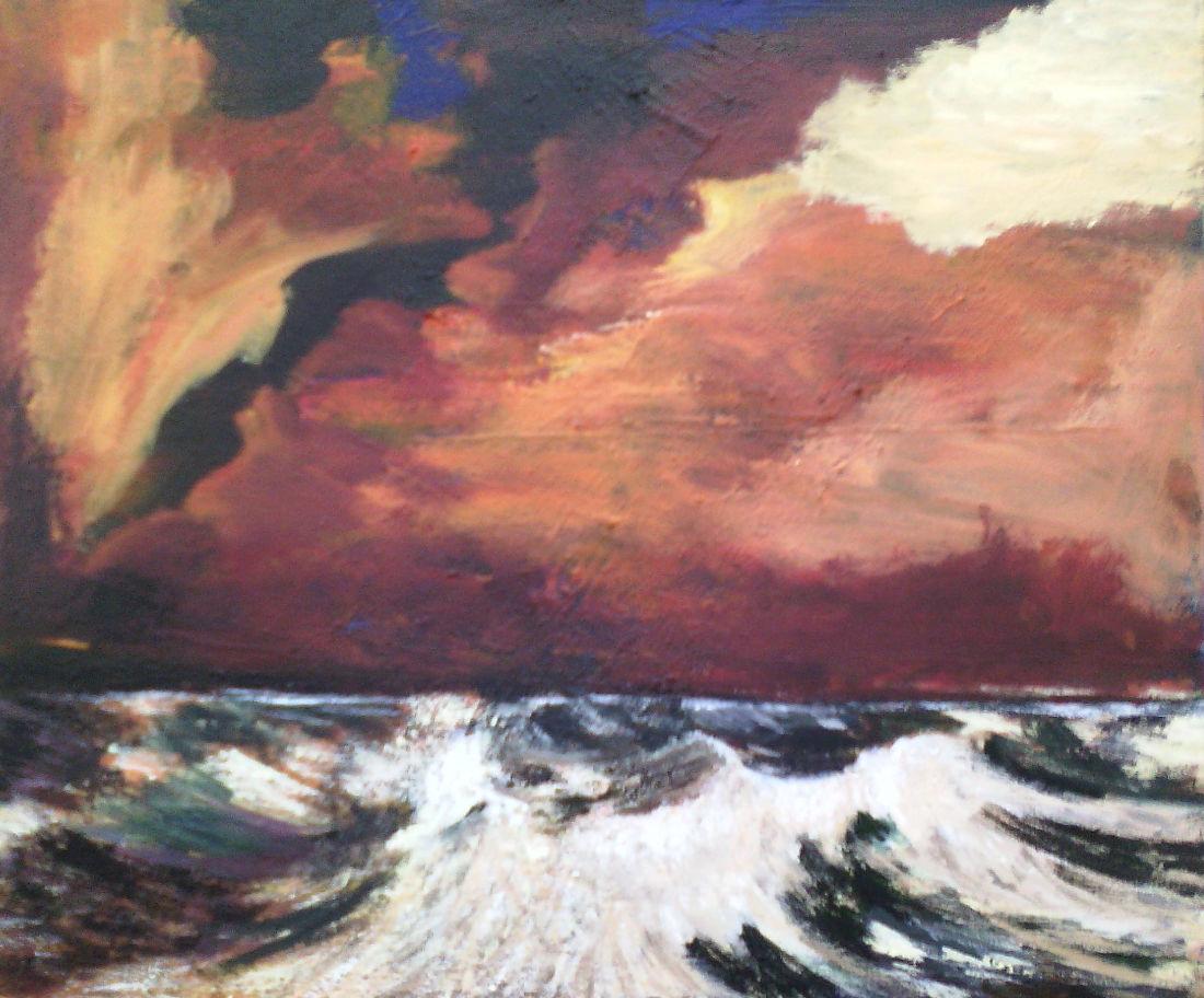 Gewittersturm, 50x60 cm, Acryl auf Leinwand, 2014
