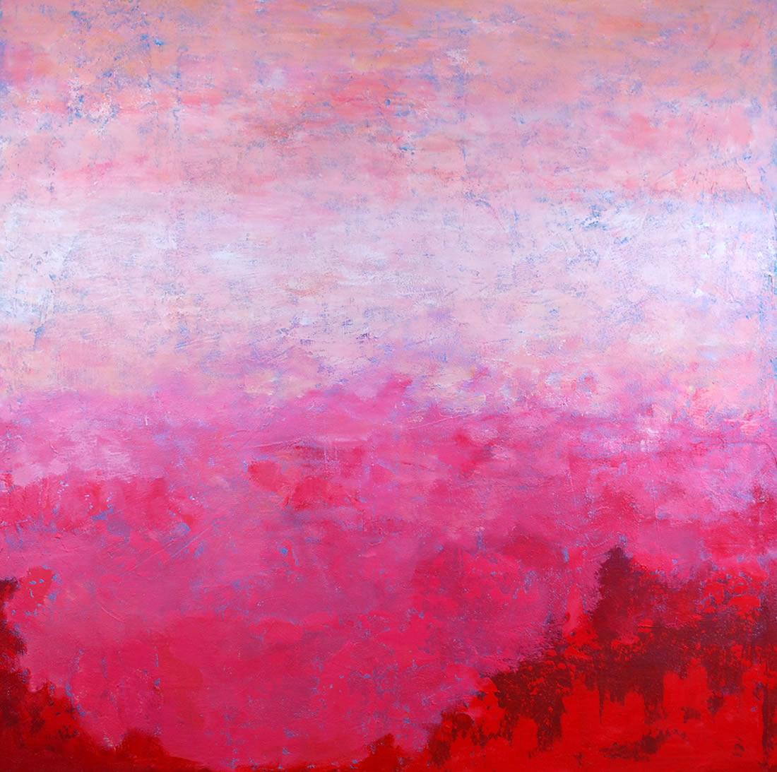 Übergang, 130x130 cm, 2013, Acryl auf Leinwand