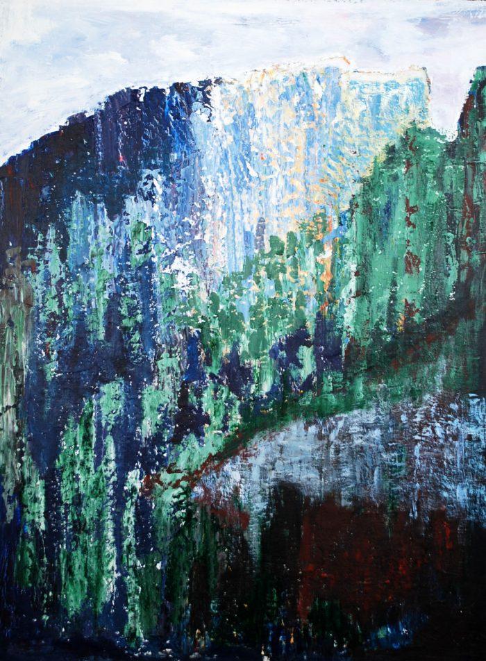 Landschaft in der Toscana, 70x50cm, Acryl auf Leinwand, 2013