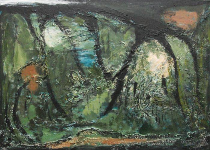 Lianen, 50x70cm, Mischtechnik auf Leinwand, 2010