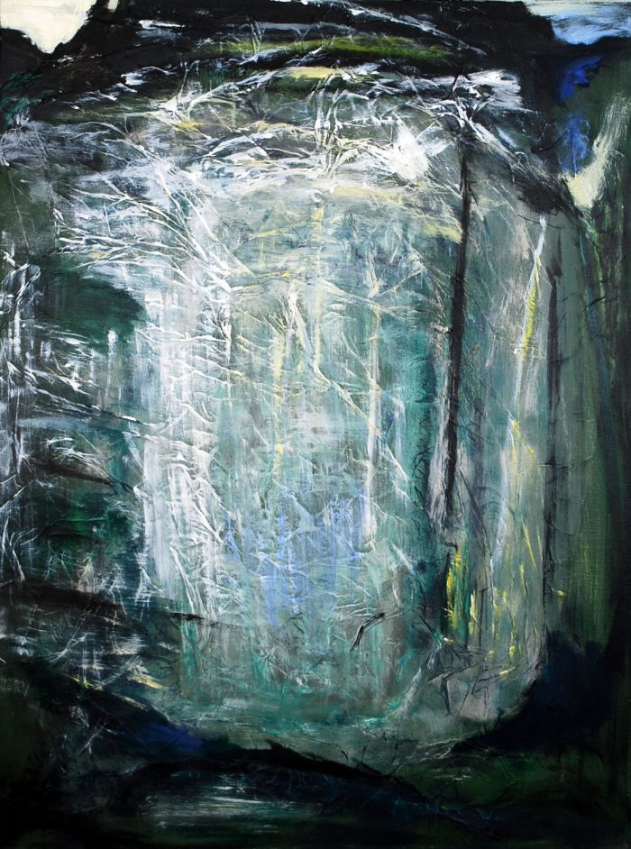 Lichtung I, 70x50 cm, Mischtechnik auf Leinwand, 2012