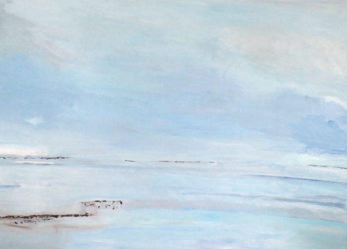 Meer bei Ahrenhoop, 160x220cm, Acryl auf Leinwand, 2011