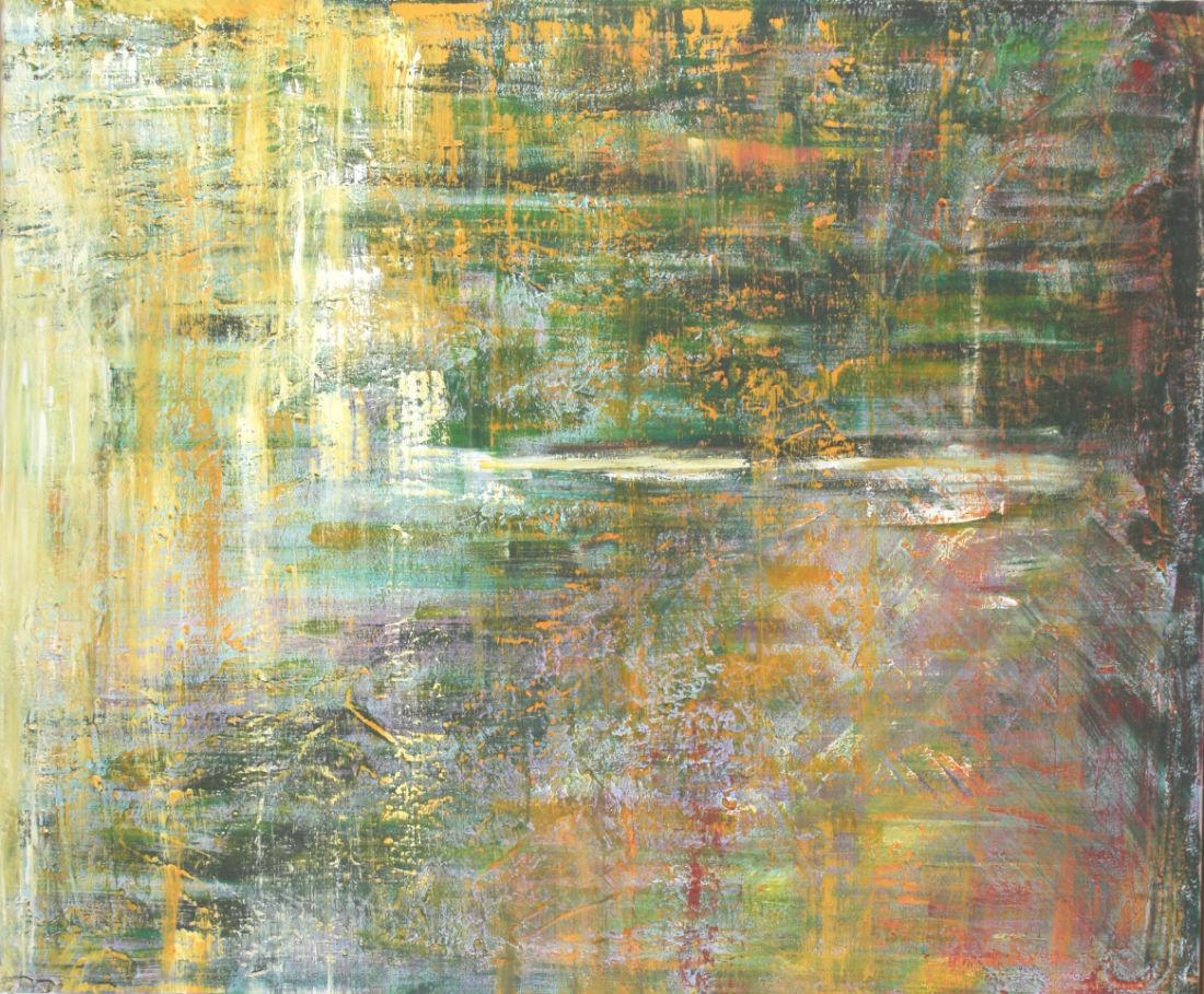 Mittags am See, 100x120cm, Mischtechnik auf Leinwand, 2009