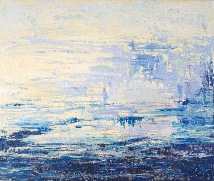 Seestück, 100x120 cm, Acryl auf Leinwand, 2009