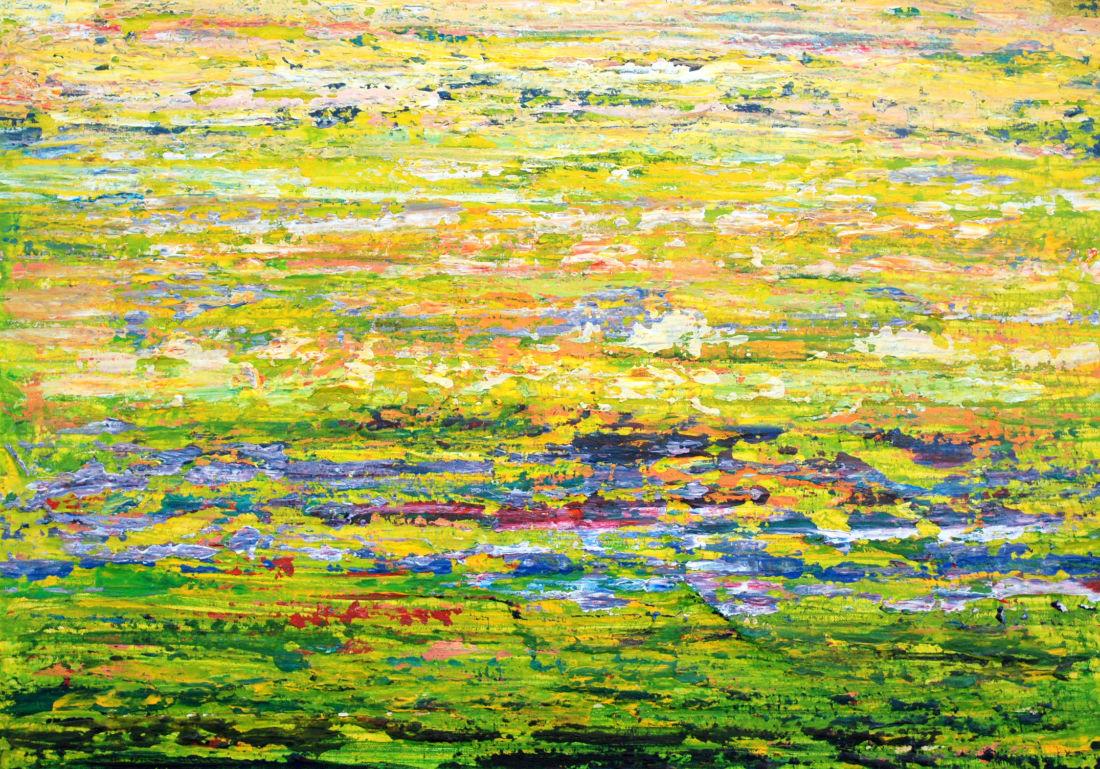 Sommerwiese, 50x70 cm, Mischtechnik auf Leinwand, 2014
