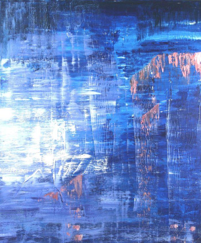 Spiegelung, 120x100 cm, Mischtechnik auf Leinwand, 2008