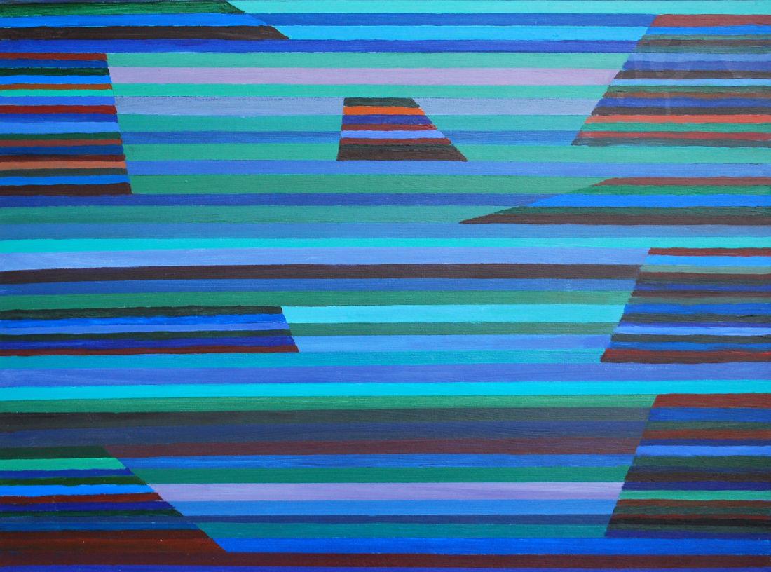 Tafelberge, 60x80 cm, Acryl auf Leinwand, 2016