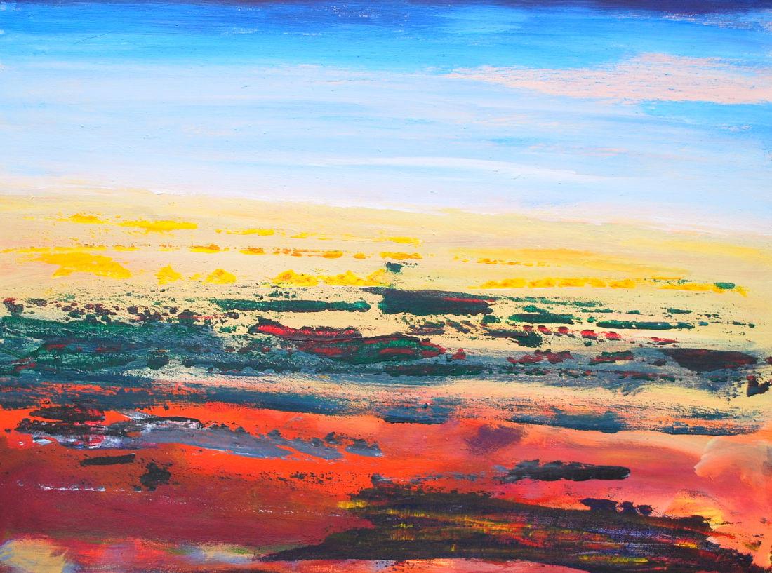 Vor uns die Wüste, 60x80 cm, Acryl auf Leinwand, 2009