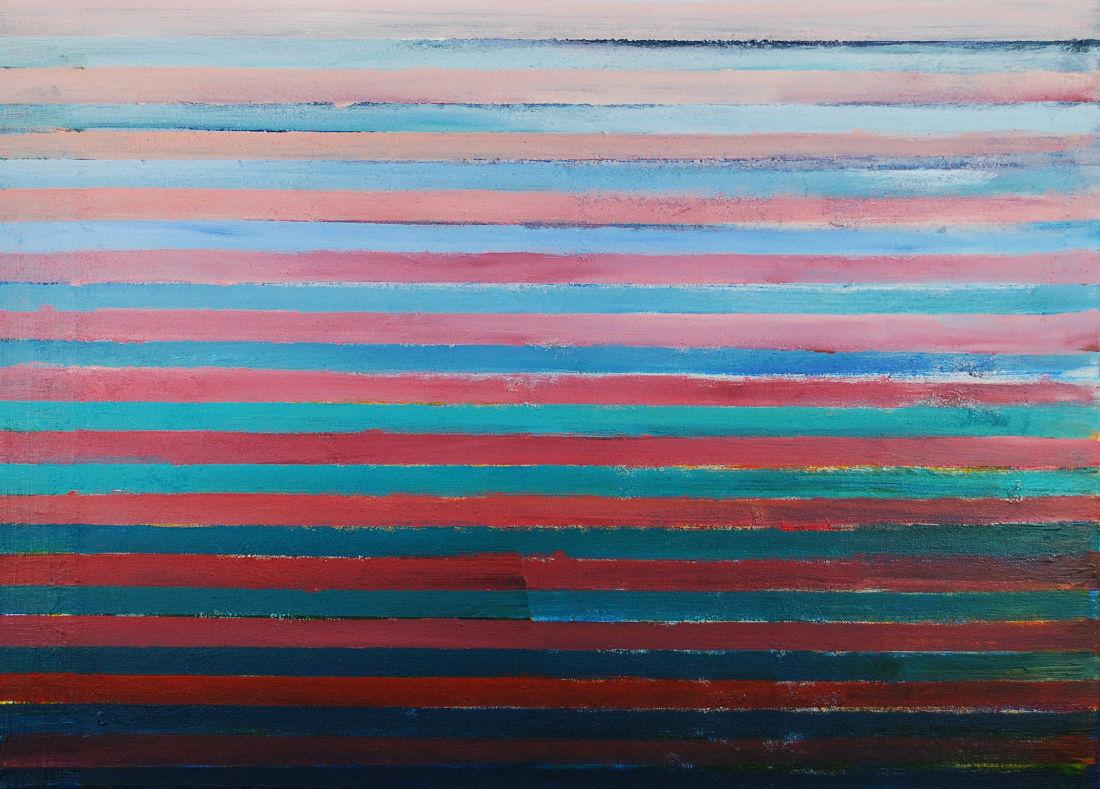 Zum Licht I, 50x70 cm, Acryl auf Leinwand, 2016