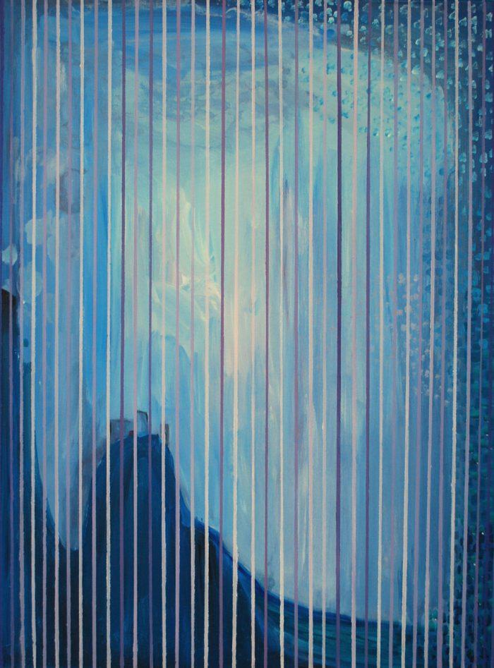 Zwei Welten, 70x50 cm, Acryl auf Leinwand, 2016