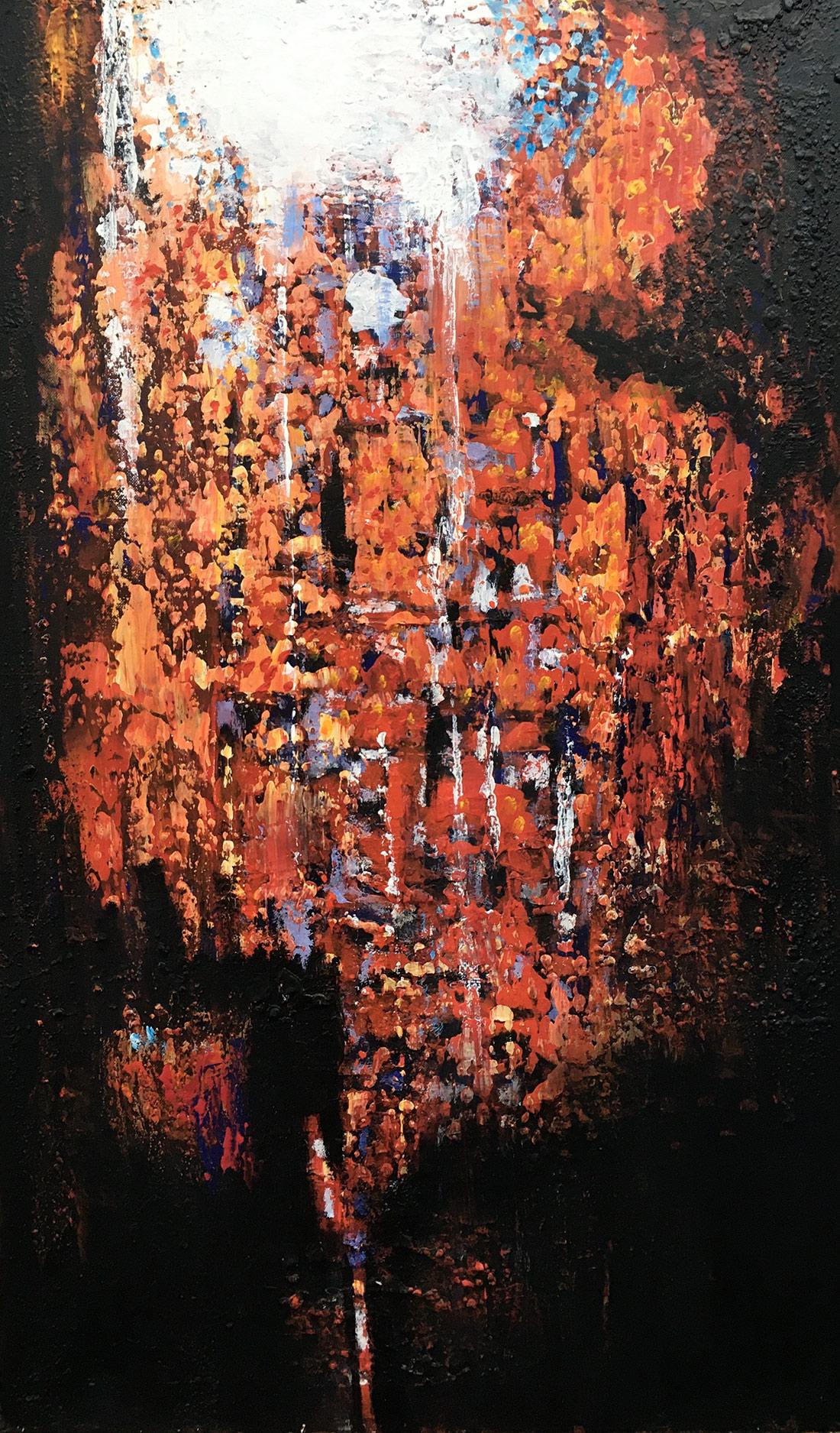 Aus der Tiefe, 60x100cm, Acryl auf Leinwand, 2021
