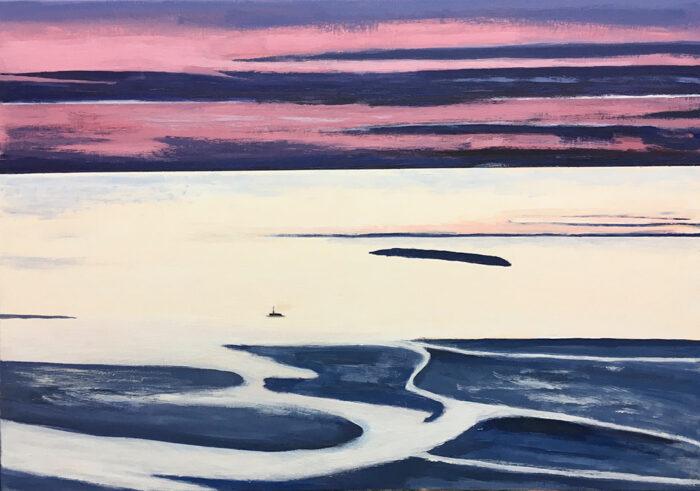 Magische See, 70x100cm, Acryl auf Leinwand, 2021