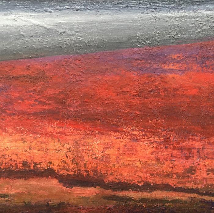 Red field II, 60x80cm, mixed media auf Leinwand