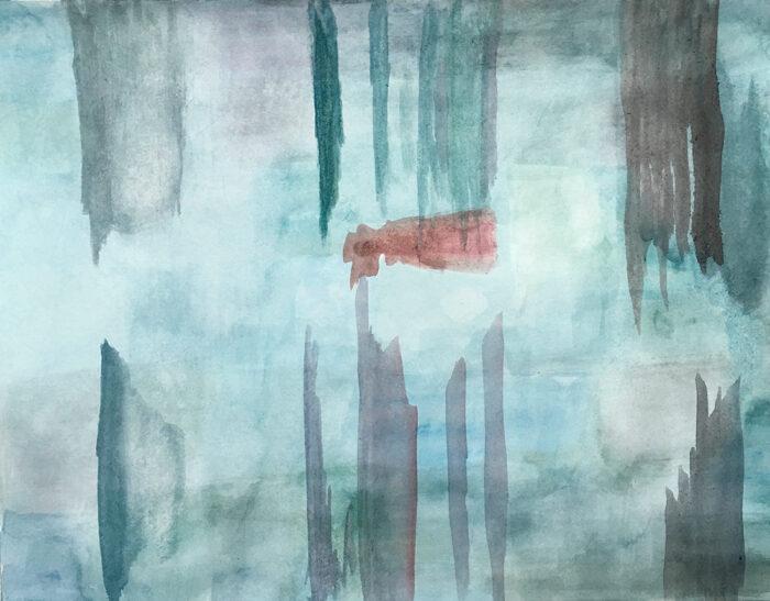 Unter Wasser, 50x60cm, Aquarell auf Papier, 2021