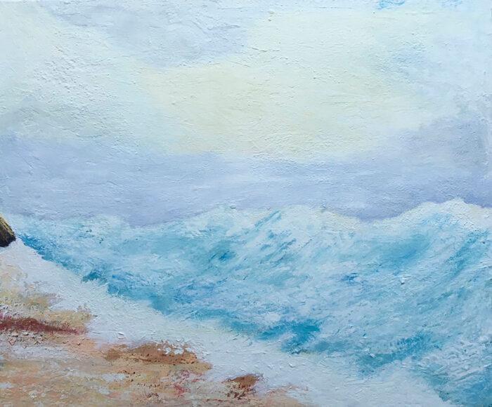 Watermountains, 100x120cm, Acryl auf Leinwand, 2021